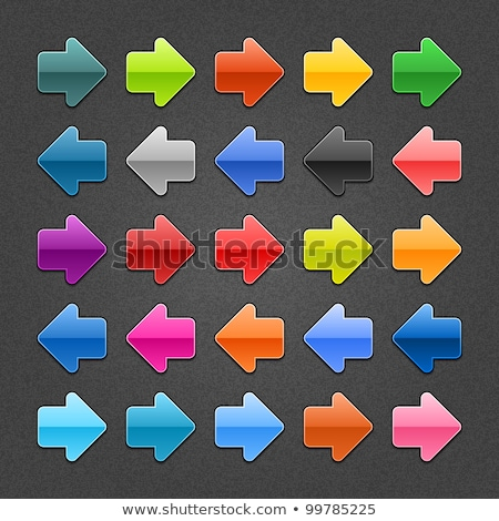 Téléchargement vers le bas flèche icône bleu Photo stock © faysalfarhan
