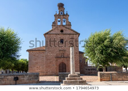 Kerk koepel Blauw katholiek kathedraal gebouw Stockfoto © rhamm