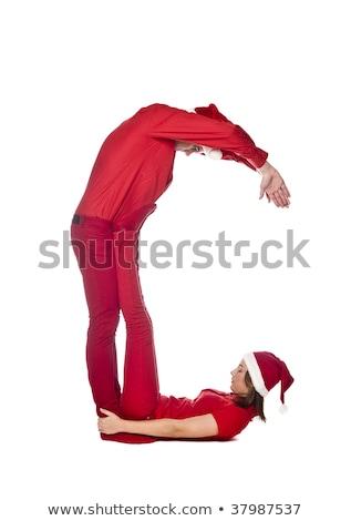 C betű izolált fehér férfiak ünnep boldogság Stock fotó © gemenacom
