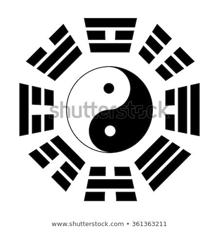 Diagrama vector feng shui diseno eps Foto stock © heliburcka