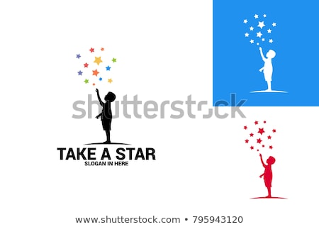 Blue Star Logo Template Stock photo © fenton