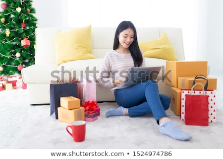 smile happy asian christmas girl stock photo © elwynn