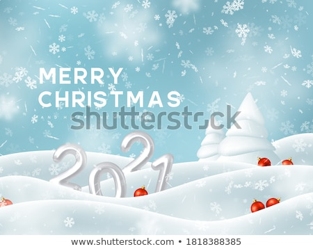Frozen Christmas Tree - Winter Background Stock photo © ankarb