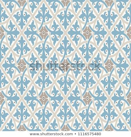Seamless pattern, damasc inspired, in beige Stock photo © samado