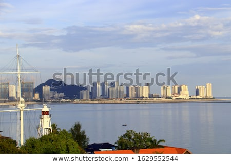 Penang, Malaysia Skyline from Across the Water Stock photo © pzaxe