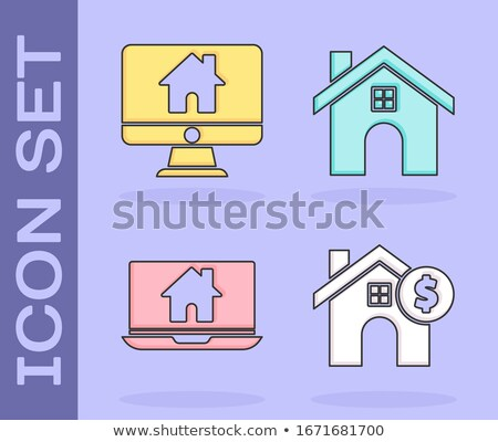 vector flat icons set design about home mortgage business finance and loan concept stock photo © thanawong