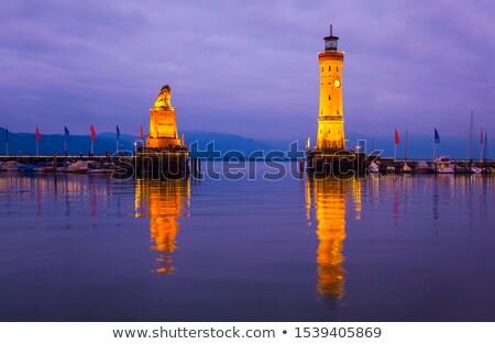 Kikötő háttérvilágítás kép víz felhők tenger Stock fotó © w20er