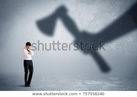 Mano moderna hacha aislado blanco Foto stock © michaklootwijk