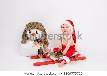 サンタクロース · 帽子 · 愛らしい · ギフトボックス · 笑顔 - ストックフォト © peterpolak