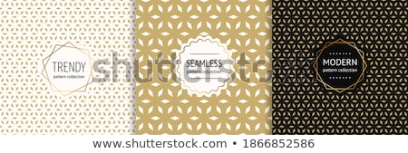 luxury golden gift card with small diamonds stock photo © liliwhite