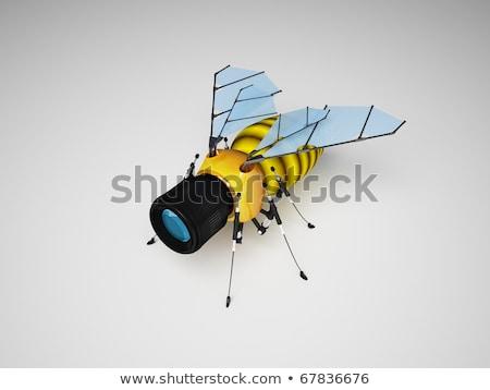 Vliegen veiligheid camera home technologie zwarte Stockfoto © 3dart