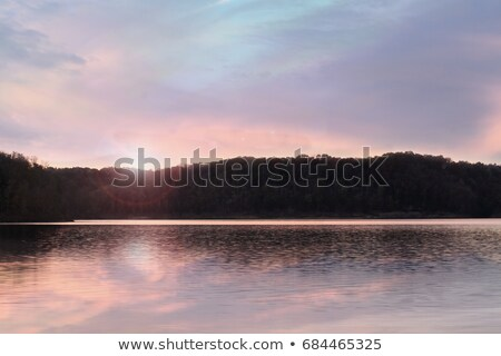 lake cumberland sunrise stock photo © stephaniefrey