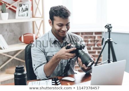Criador indiano fotógrafo foto câmera Foto stock © ziprashantzi