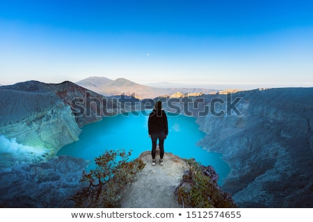 ijen volcano travel destination in indonesia stock photo © johnnychaos