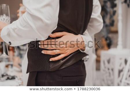 fashion woman posing with her hands around her waist stock photo © feedough