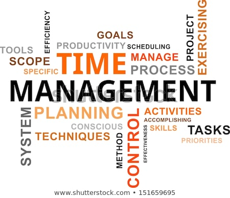 word cloud - time management Stock photo © master_art