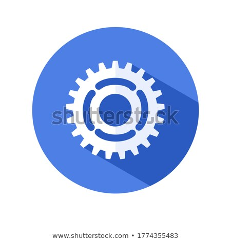 machinery service on the gears blueprint style stock photo © tashatuvango