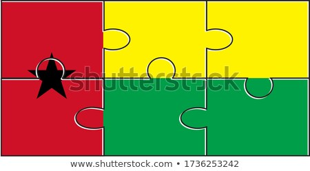european union and guinea bissau flags in puzzle isolated on whi stock photo © istanbul2009