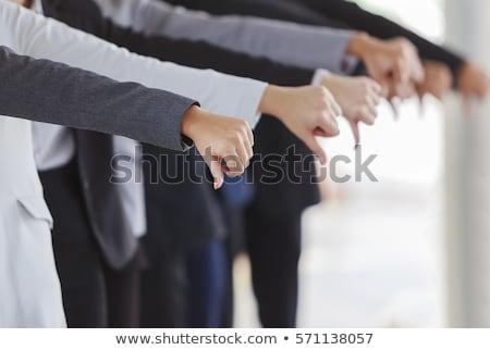 masculino · mão · polegar · para · baixo · assinar - foto stock © deandrobot