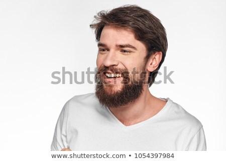 Stockfoto: Knap · zakenman · camera · portret · grijs