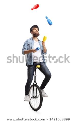 Juggling men Stock photo © Tawng