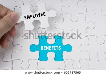 compensation   jigsaw puzzle with missing pieces stock photo © tashatuvango