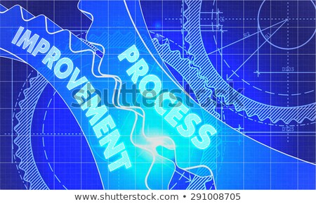 Productivity Improvement Concept. Blueprint of Gears. Stock photo © tashatuvango