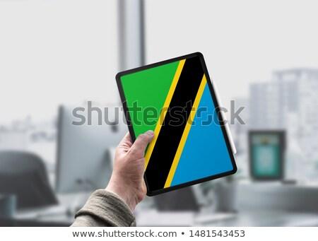 Tabletta Tanzánia zászló kép renderelt mű Stock fotó © tang90246
