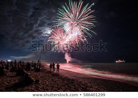 Fogos de artifício manifestação festa fogo estrela cor Foto stock © Fotografiche