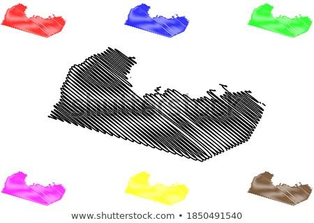 いたずら書き 地図 赤道ギニア 抽象的な 背景 白 ストックフォト © ojal