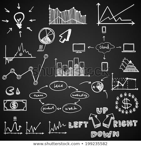 monitor · gráfico · de · negócio · laptop · tela · dinheiro · caderno - foto stock © rastudio