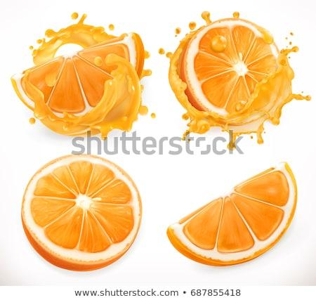 narancs · egész · fél · narancs · egészséges · érett - stock fotó © smeagorl