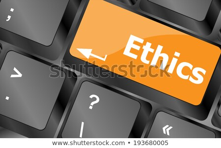 Naranja botón negocios ética negro Foto stock © tashatuvango