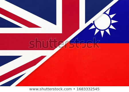 United Kingdom and Taiwan Flags Stock photo © Istanbul2009