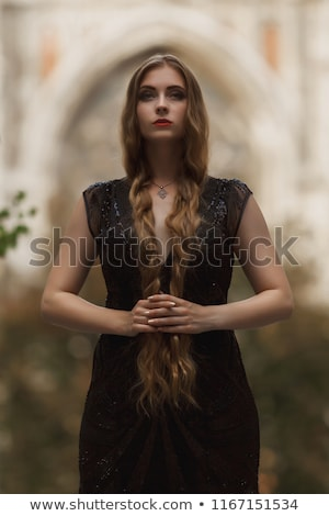 Goth Girl With Pigtails Stock photo © ClipArtMascots
