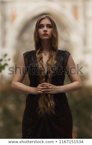 vampir · cadı · maskot · sevimli · küçük · kız · oturma - stok fotoğraf © clipartmascots