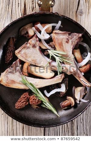 Baranka grzyby pan żywności obiad Zdjęcia stock © Digifoodstock