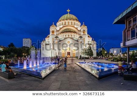 Kościoła święty Belgrad Serbia niebo drzewo Zdjęcia stock © Kirill_M
