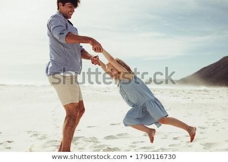 ojciec · córka · plaży · baby · szczęśliwy · dzieci - zdjęcia stock © Paha_L