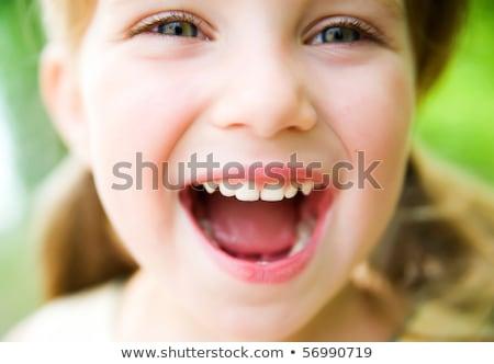 három · lányok · arcok · közelkép · nő · mosoly - stock fotó © Paha_L