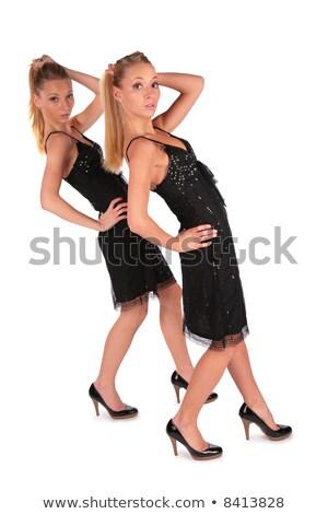 gêmeo · meninas · atrás · mão · para · cima · amor - foto stock © Paha_L