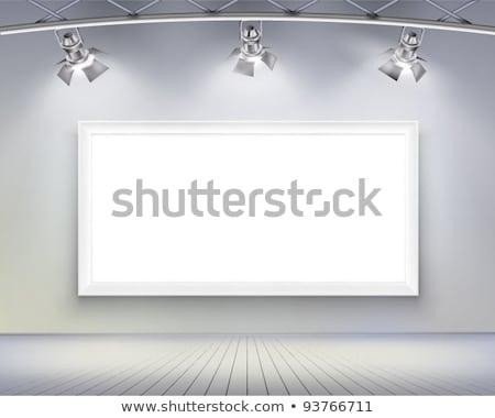 Fotolijstje verlicht lamp muur textuur achtergrond Stockfoto © tarczas