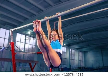 ritmikus · gimnasztikai · absztrakt · illusztráció · nők · sport - stock fotó © lenm
