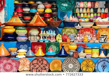 Kleurrijk aardewerk witte Stockfoto © Morphart