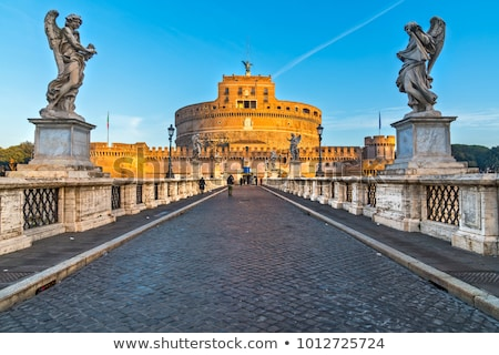 castle st angelo rome italy stock photo © neirfy