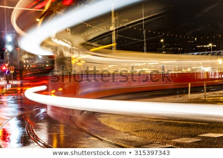 blurred street car in the old part of vienna stock photo © meinzahn