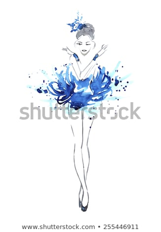 Lábak kecses ballerina kép tornaterem nő Stock fotó © deandrobot