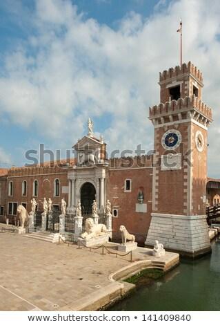 Veneziano Veneza Itália arquitetura cabeça branco Foto stock © meinzahn