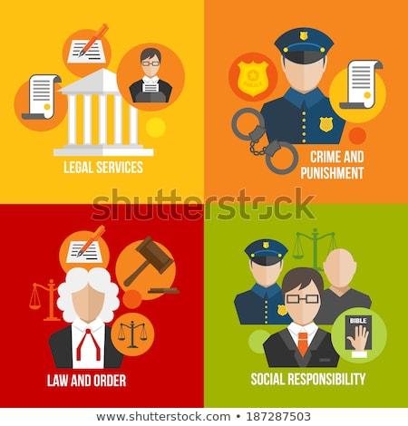 преступление наказание иконки плакат Сток-фото © -TAlex-