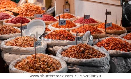 Foto stock: Secas · frutos · do · mar · venda · thai · rua · mercado